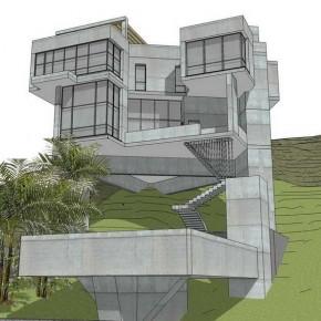 Дом на сложном рельефе