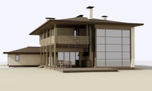 Проект индивидуального дома в селе Вишенки