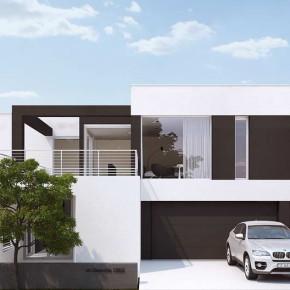 Дом с гаражом на четыре машины