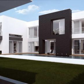 Дом с гаражом на четыре машины (House 4 Cars)
