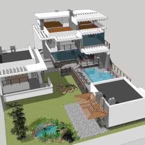 Проект современного дома на склоне 2