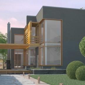 Проект современного дома с плоской крышей