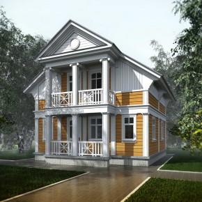 Проект деревянного дачного дома (Вилла Виктория)
