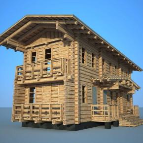 Проект современного дома из лафета