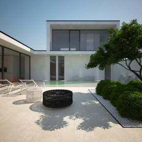 Дом с бассейном на участке в пять соток