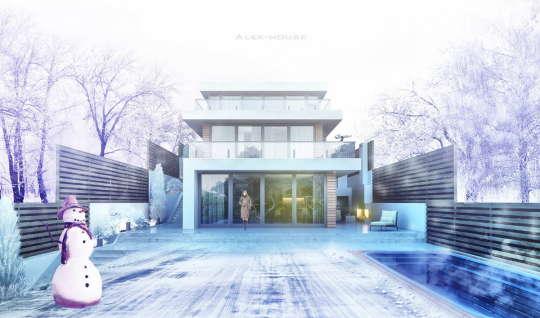 Проект современного коттеджа на склоне в Подмосковье - Alex-house