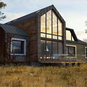 Проект частного дома Dwell House