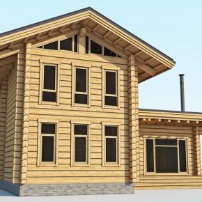 Проект гостевого дома из лафета