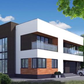 Проект типового загородного дома «Дом М»