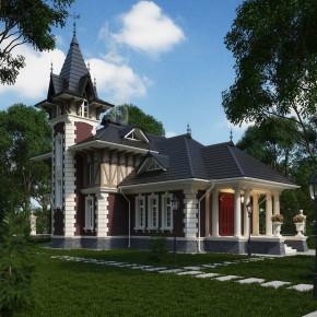 Проект дома в викторианском стиле