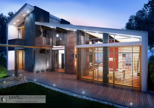 Проект современного деревянного дома