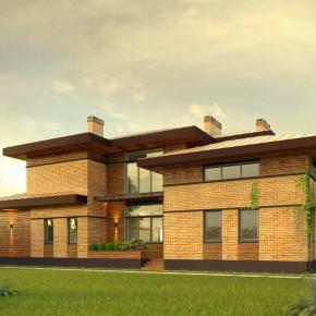 Проект частного дома в стиле Райта