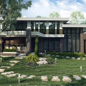 Проект современного дома в псевдо-средиземноморском стиле