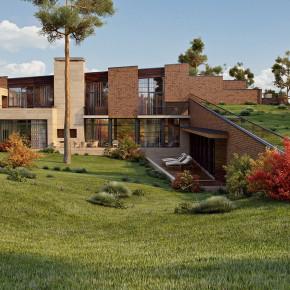 Проект загородного особняка площадью более 1000 м2
