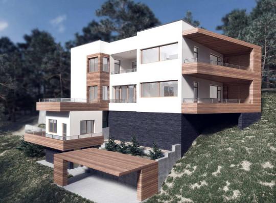 Проект дома на склоне Margarita house