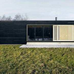 Проект дачного домика с плоской крышей