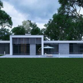 Проект минималистского дома с плоской крышей