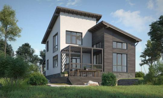 Проект загородного дома для молодой семьи