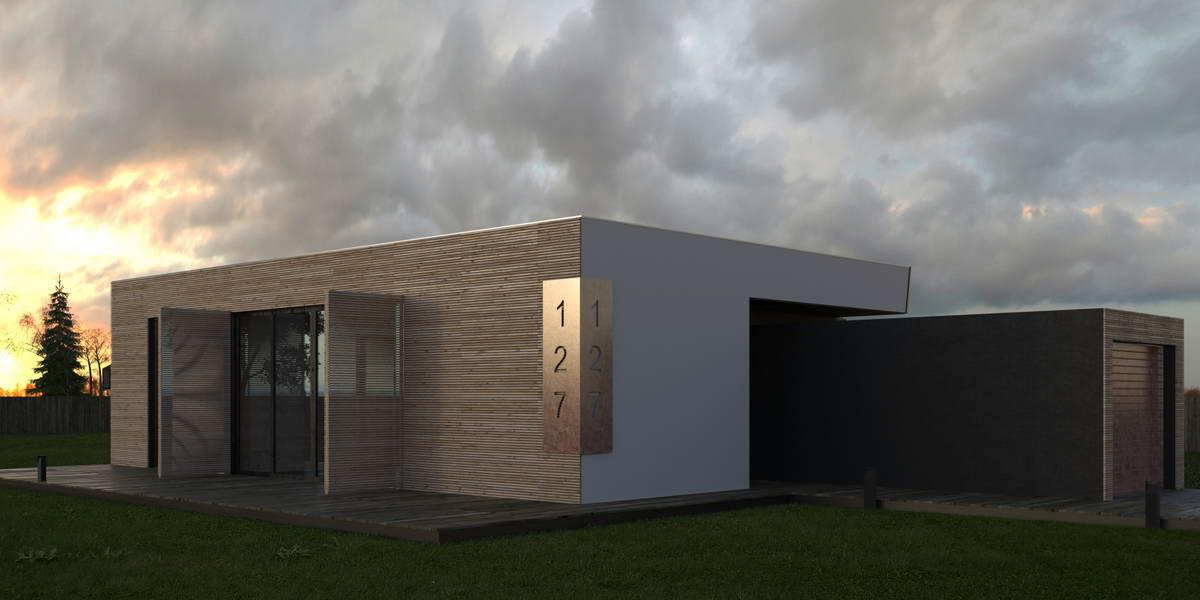 Бревенчатый дом 6х9,7 60,8 м2 (проект 391)