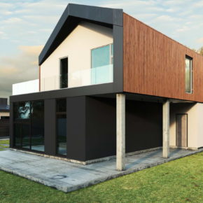 Проект двухэтажного дома с бескарнизной крышей