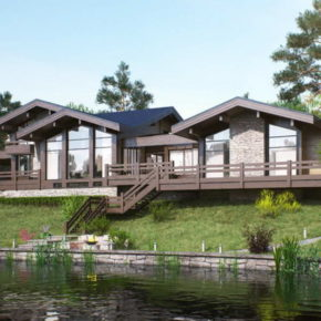 Проект загородного дома у воды