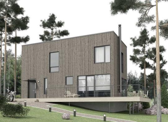Типовой проект дом для коттеджного поселка