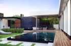 Проект современного дома на берегу реки