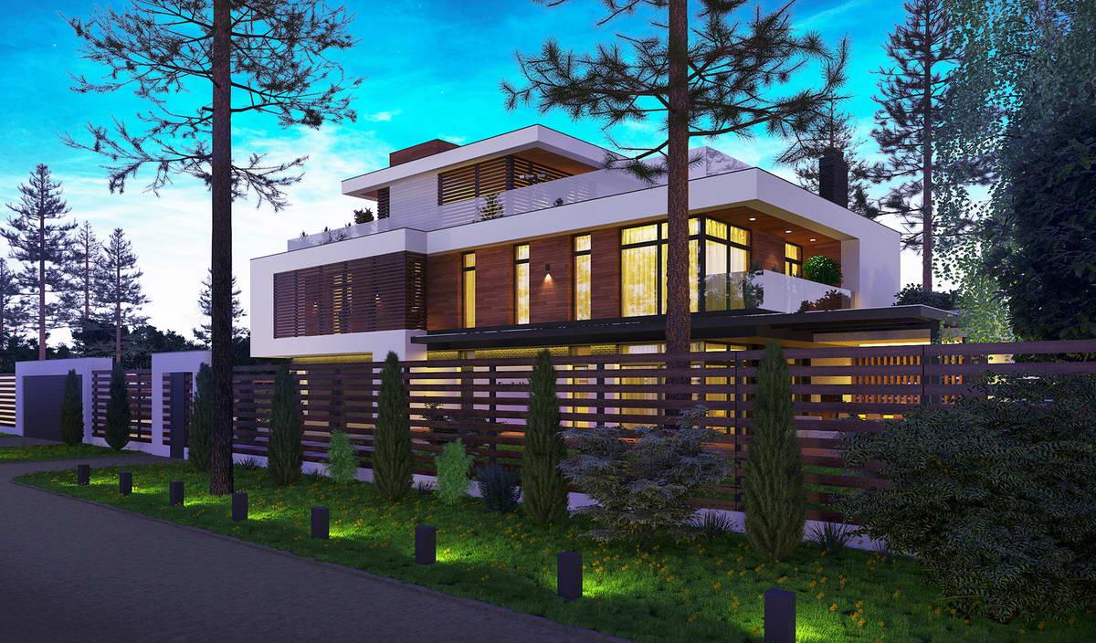 Проект современного загородного дома в Подмосковье 2