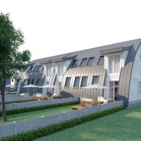 Проект блокированного дома из клееного бруса