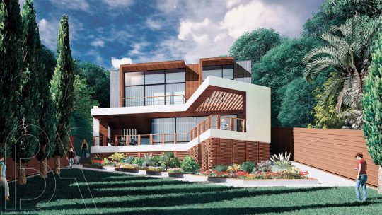 Проект дома на склоне у Чёрного моря