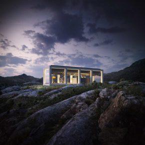 Проект летнего дома с бассейном на крыше