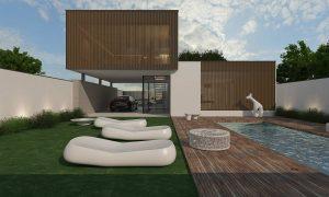 Проект дома с зоной для вечеринок